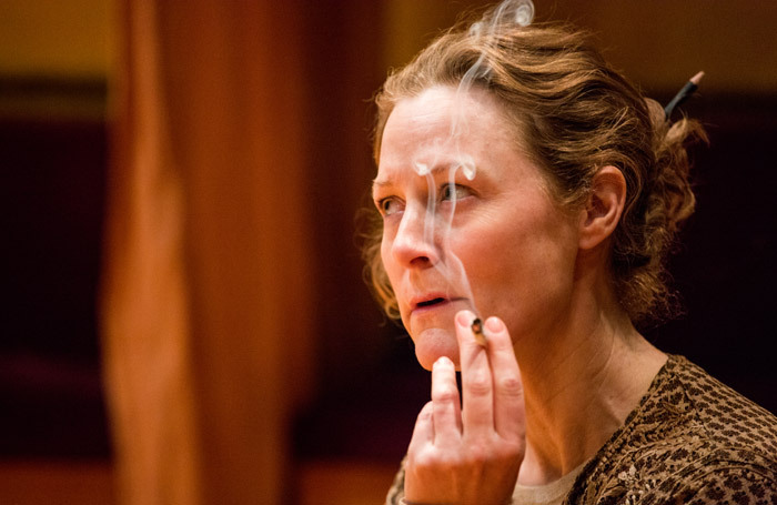 Geraldine Somerville in Checkpoint Chana at Finborough Theatre, London. Photo: Samuel Kirkman
