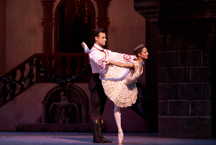 Francesca Hayward and Alexander Campbell in Coppelia at Royal Opera House, London. Photo: Bill Cooper