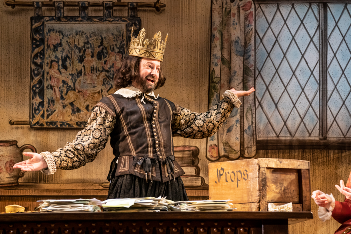 David Mitchell in Upstart Crow at the Gielgud Theatre. Photo:  Johan Persson