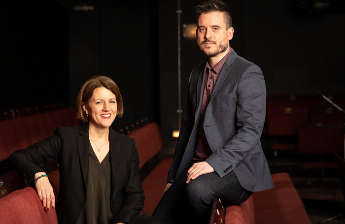 Henny Finch and Michael Longhurst at the Donmar Warehouse. Photo: Helen Maybanks
