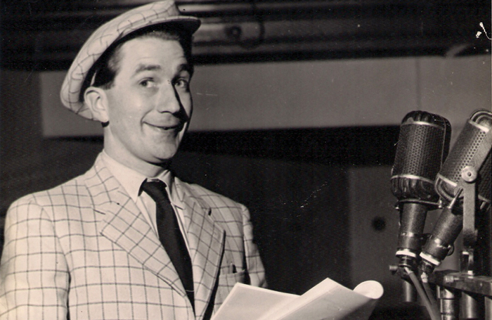 Wyn Calvin, in his younger days, performing on the BBC Radio's Workers Playtime