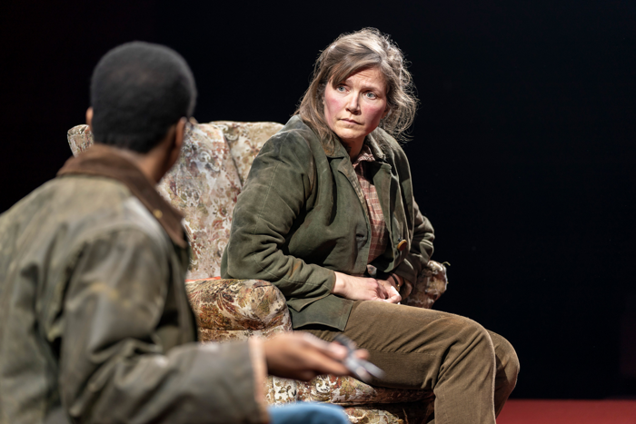 Jessica Hynes in Far Away at the Donmar Warehouse, London. Photo: Johan Persson