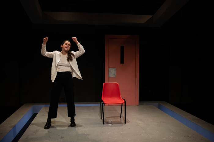 Eve Cowley in Screwdriver at the Lyric Hammersmith. Photo: Ali Wright