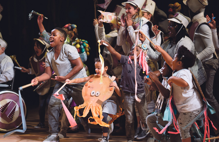 The National Theatre's Public Acts programme staged Pericles at the Olivier Theatre, London in 2018. Photo: James Bellorini