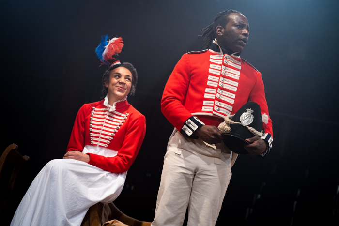 Sophie Mercell and Gabriel Paul in Quality Street at the Viaduct Theatre, Halifax. Photo: Sam Taylor