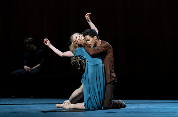 Marcelino Sambé and Lauren Cuthbertson in The Cellist at Royal Opera House, London. Photo: Bill Cooper
