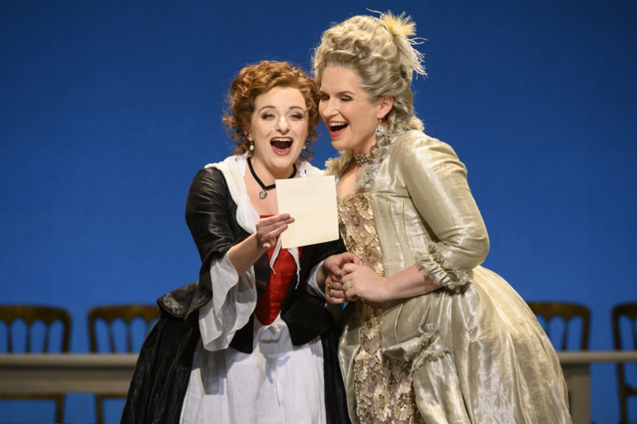Soraya Mafi and Anita Watson in Welsh National Opera's The Marriage of Figaro. Photo: Richard Hubert-Smith