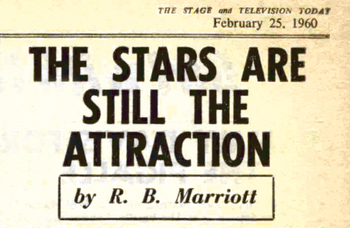 'Like it or not, the star is still the major attraction in the theatre' – 60 years ago in The Stage