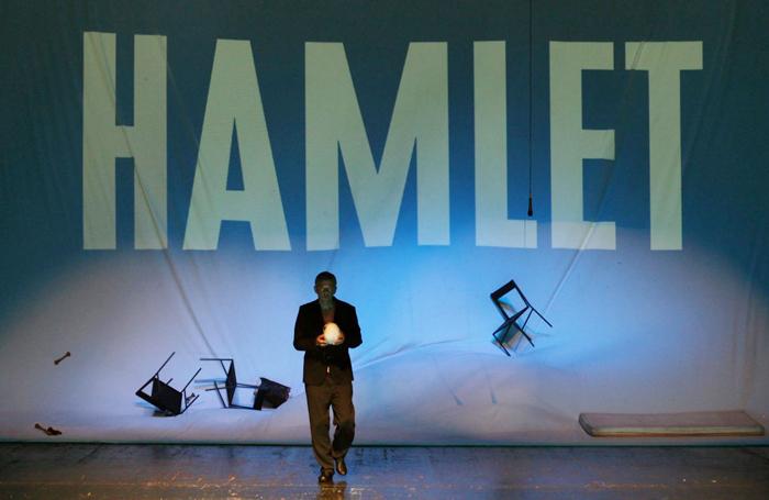 Nebojša Glogovac in Aleksandar Popovski's production of Hamlet for the Yugoslav Drama Theatre in Belgrade