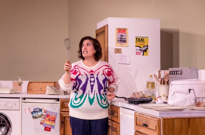 Mina Anwar in Shirley Valentine at Library Theatre, Bolton. Photo: The Other Richard