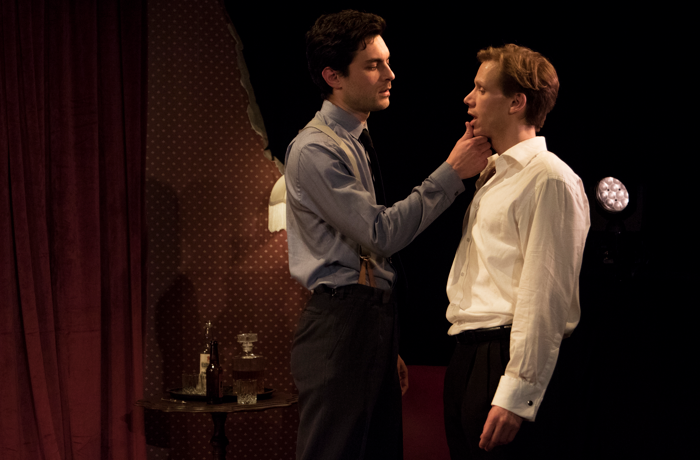 Guy Warren-Thomas and Max Rinehart in Spy Plays at Above the Stag. Photo: PBG Studios