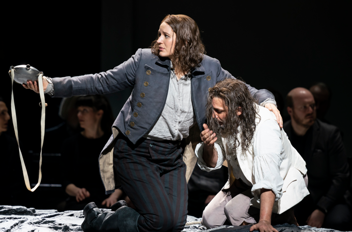 Lise Davidsen as Leonore and Jonas Kaufmann in Fidelio at Royal Opera House. Photo: Bill Cooper
