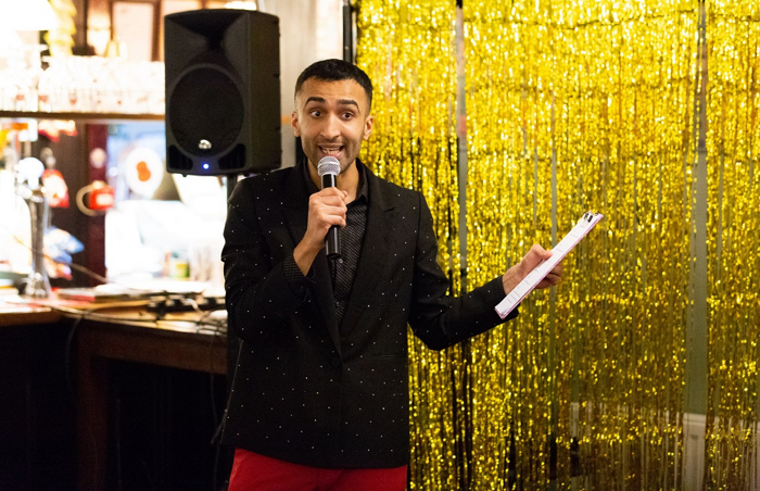 Shaban Dar in The Last Quiz Show on Earth. Photo: Alex Mead Decoy Media