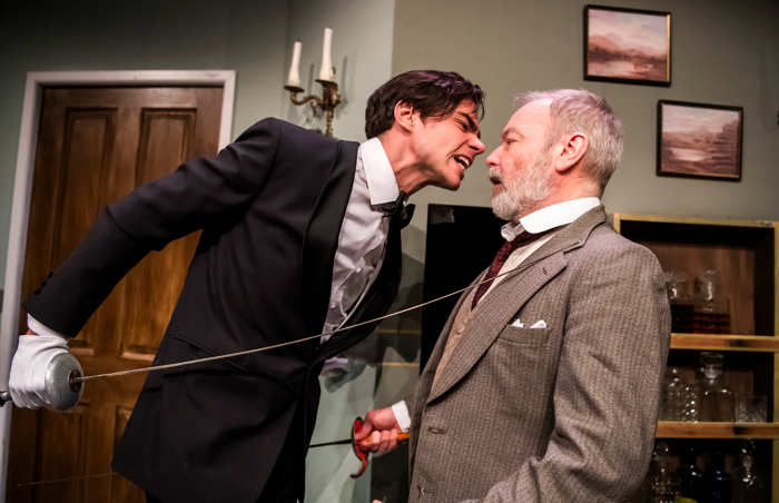 Tom York and Paul Kemp in Corpse! at Park Theatre, London. Photo: Tristram Kenton