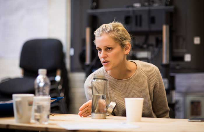 Denise Gough rehearsing Angels in America at London's National Theatre. Photo: Helen Maybanks
