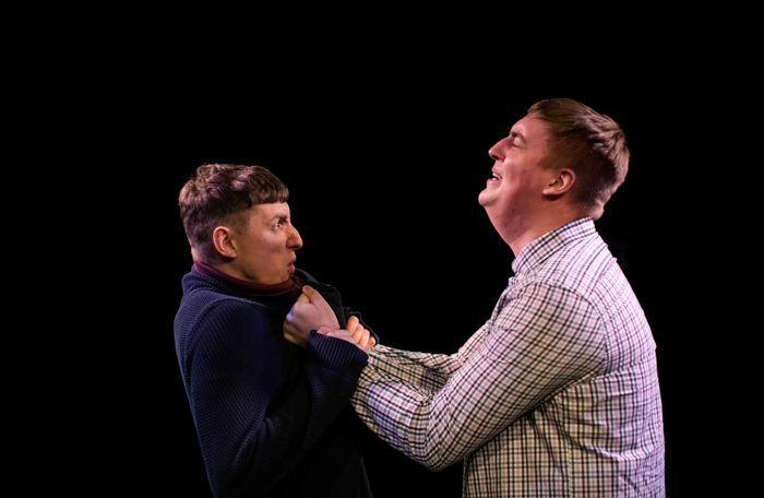 Kenny Fullwood and Mark Newsome in Father's Son at the Vaults, London. Photo: Ali Wright