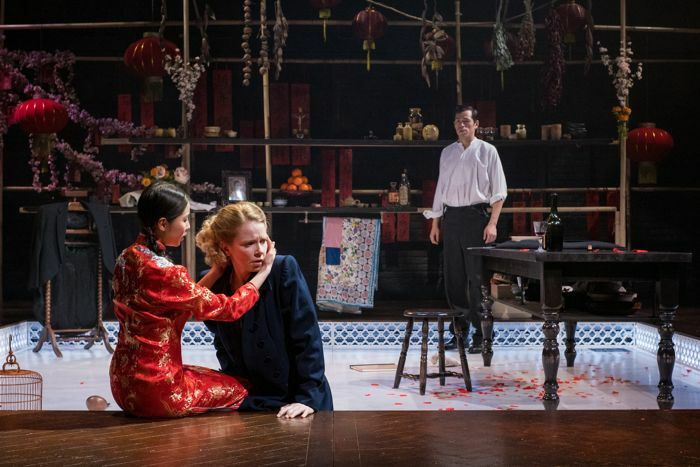 Lau, Sohie Robinson and Camille Mallet de Chauny in Miss Julie at Storyhouse, Chester