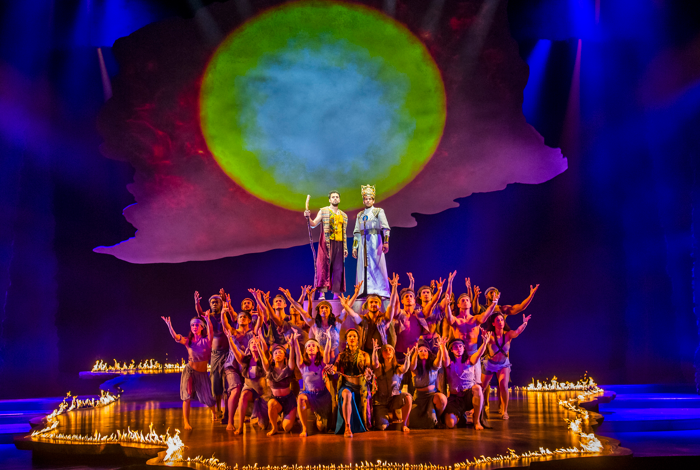 Luke Brady and Liam Tamine in The Prince of Egypt at the Dominion Theatre, London. Photo: Tristram Kenton