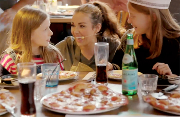 Diary: West End diners grab a pizza the action with Waitress cast members...