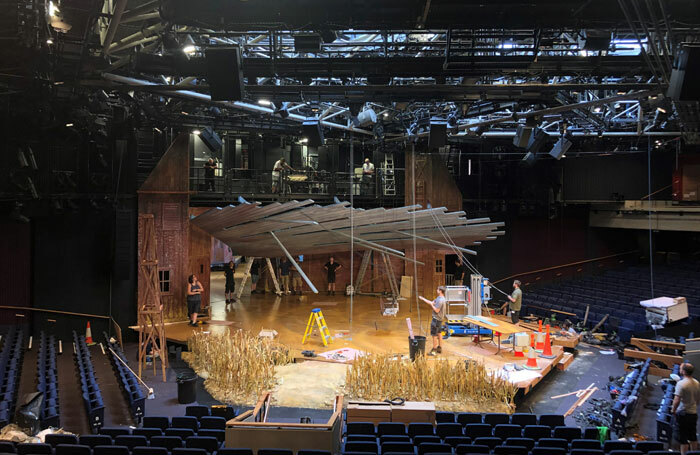 Building the set for Oklahoma! at Chichester Festival Theatre