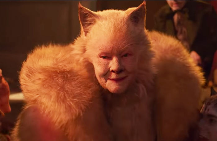 Judi Dench in the film adaptation of Cats, which cost £74 million to make but took just £58 million at the box office