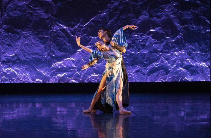 Minju Kang and Riku Ito in Northern Ballet's Geisha. Photo Emma Kauldhar