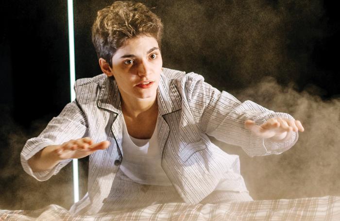 Nico Guerzoni in The Metamorphosis at Tron Theatre, Glasgow. Photo: Mihaela Bodlovic