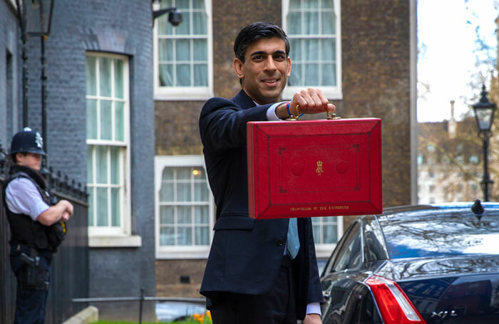 Chancellor Rishi Sunak leaving 11 Downing Street on Budget Day 2020. Photo: HM Treasury