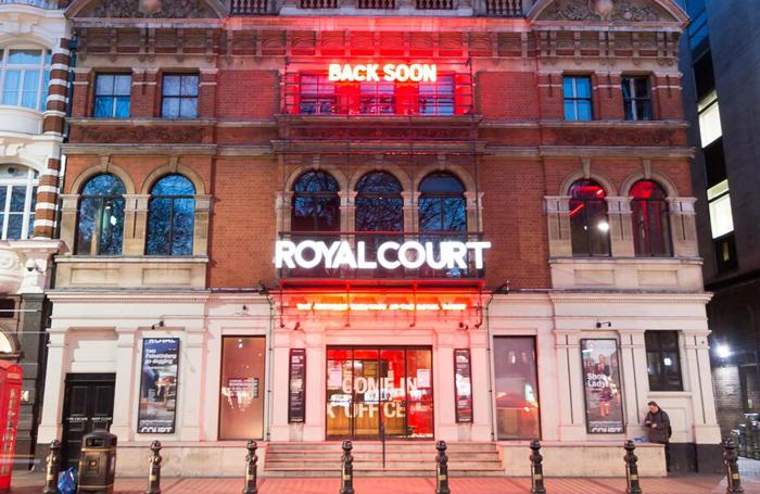 'Back soon' sign outside London's Royal Court. Photo: Robert Smael