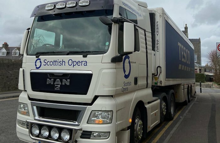 One of Scottish Opera's lorries. Photo: Scottish Opera via Twitter