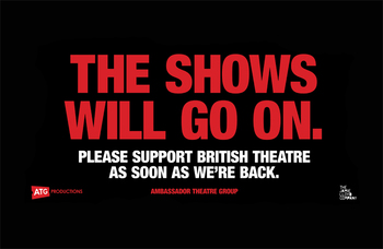 Coronavirus: ATG unveils plan to run Tube and newspaper adverts to champion British theatre