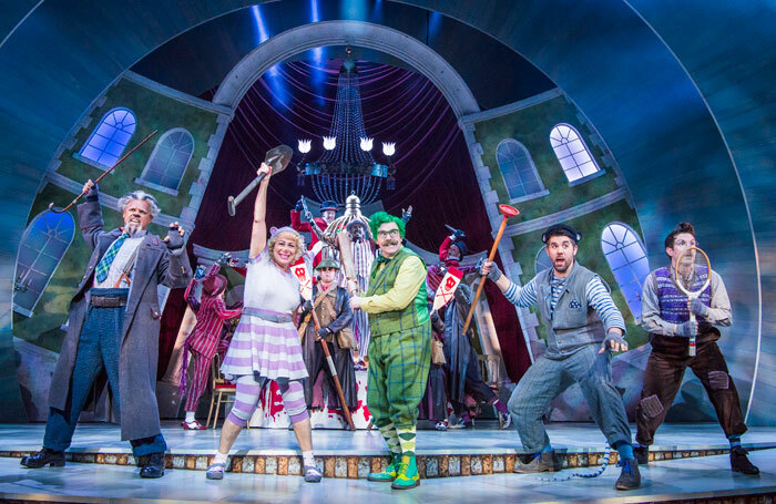 Rufus Hound and cast in The Wind in the Willows at the London Palladium in 2017. Photo: Tristram Kenton