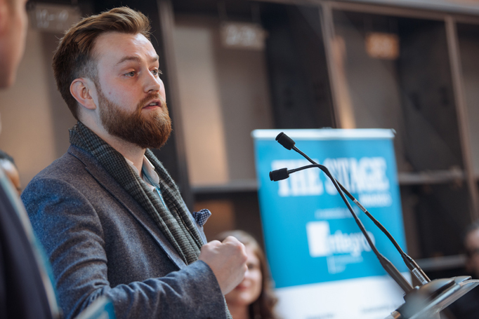 Barn Theatre artisticdirector Iwan Lewis at The Stage Awards 2019. Photo: David Monteith-Hodge