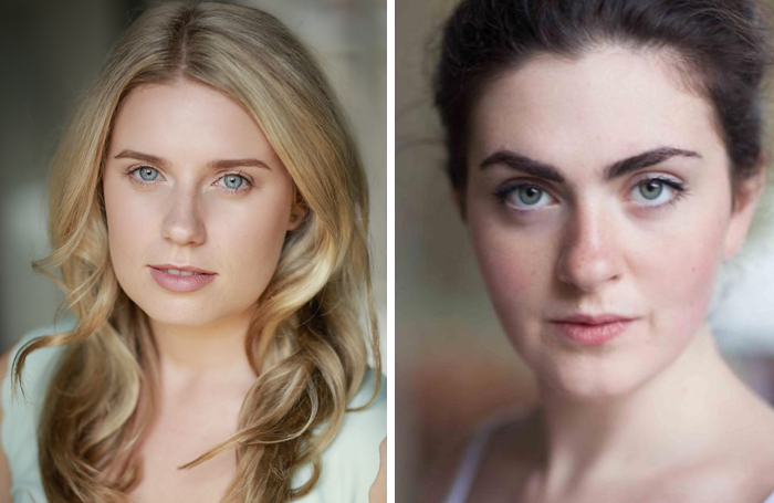 Actors Kate McKeown and Anna-Rose Charleton