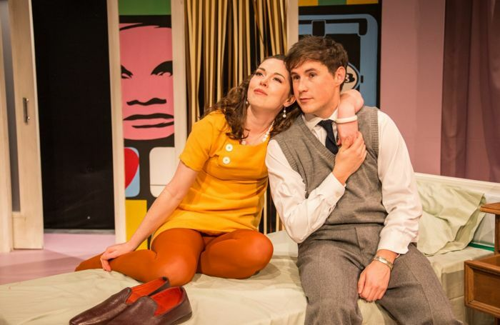 Lianne Harvey and Christopher Bonwell in Relatively Speaking. Photo: Andreas Lambis