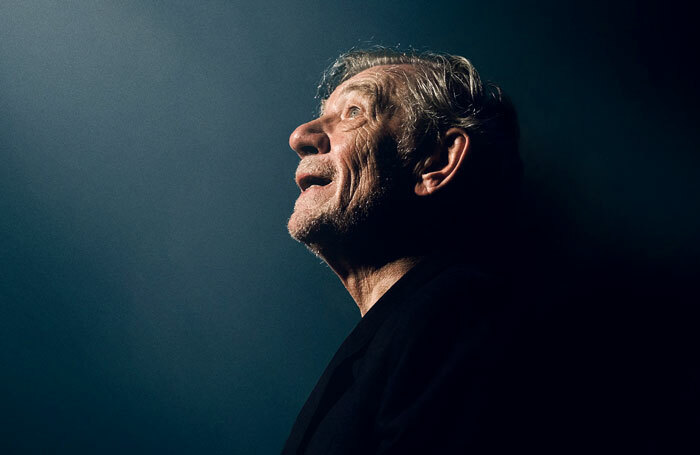 Ian McKellen on Stage at the Harold Pinter Theatre in London in 2019. Photo: Frederic Aranda