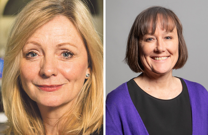 Former shadow culture secretary Tracy Brabin and the new shadow culture secretary Jo Stevens (right)