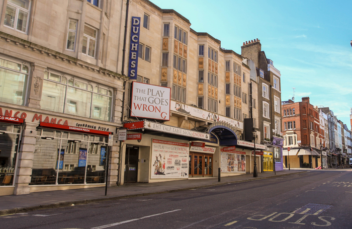 Closed theatres and shops in London's West End. Photo: Shutterstock