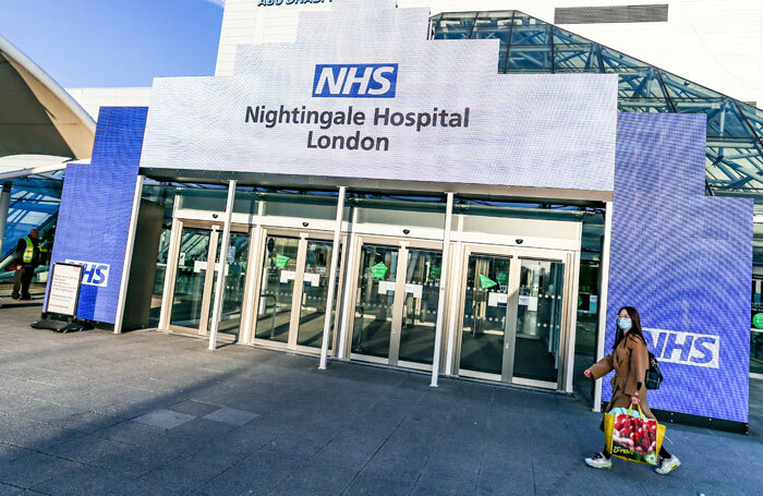The NHS has built a temporary hospital at London's Excel Centre to treat patients during the coronavirus pandemic. Photo: Shutterstock