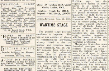 When producers looked beyond the West End during wartime – 81 years ago in The Stage