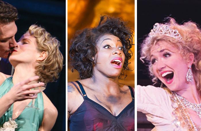Kelli O'Hara in South Pacific, Nicola Hughes as Bess at the Regent's Park Opera, Summer Strallen in Candide. Photos: Tristram Kenton/Joan Marcum