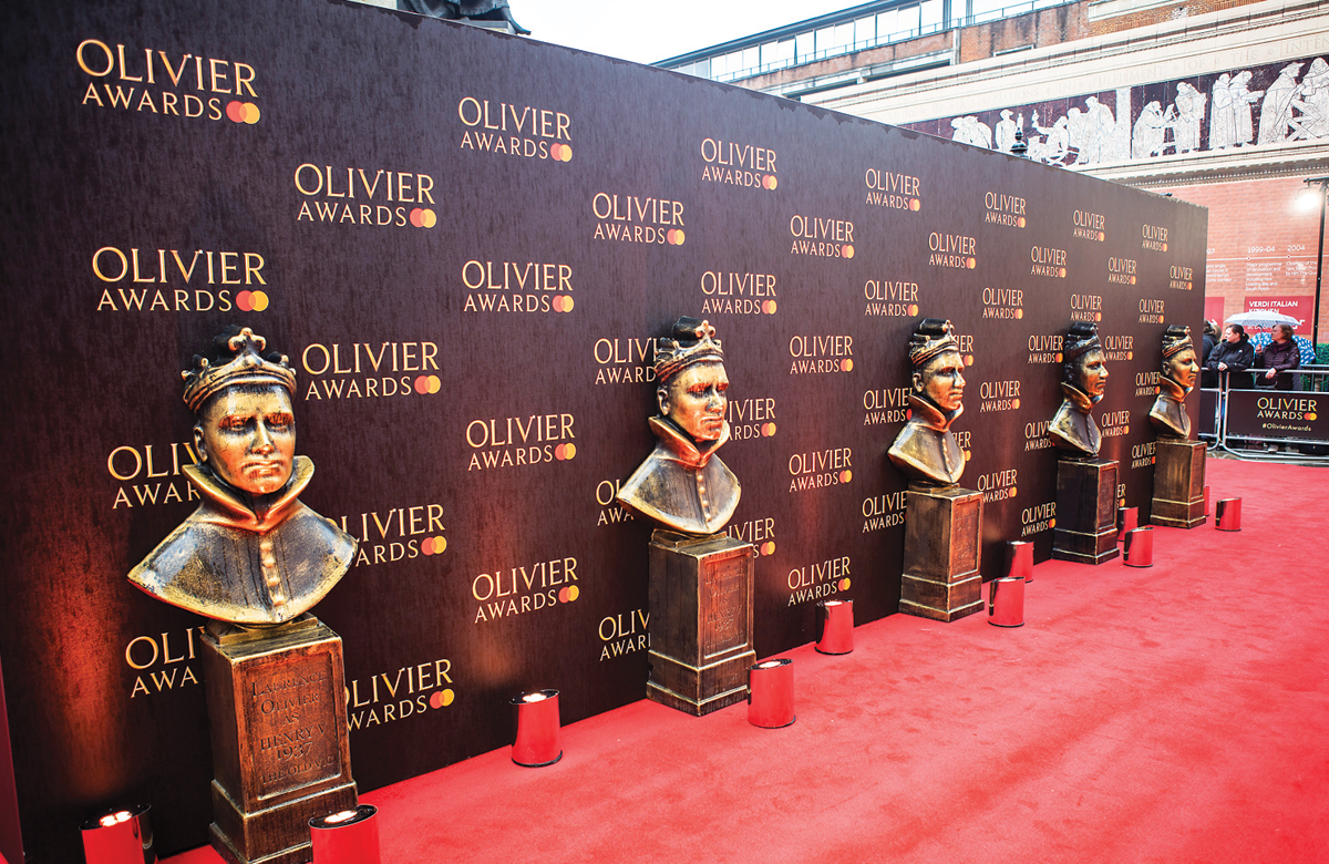 The Olivier awards red carpet last year. Pamela Raith