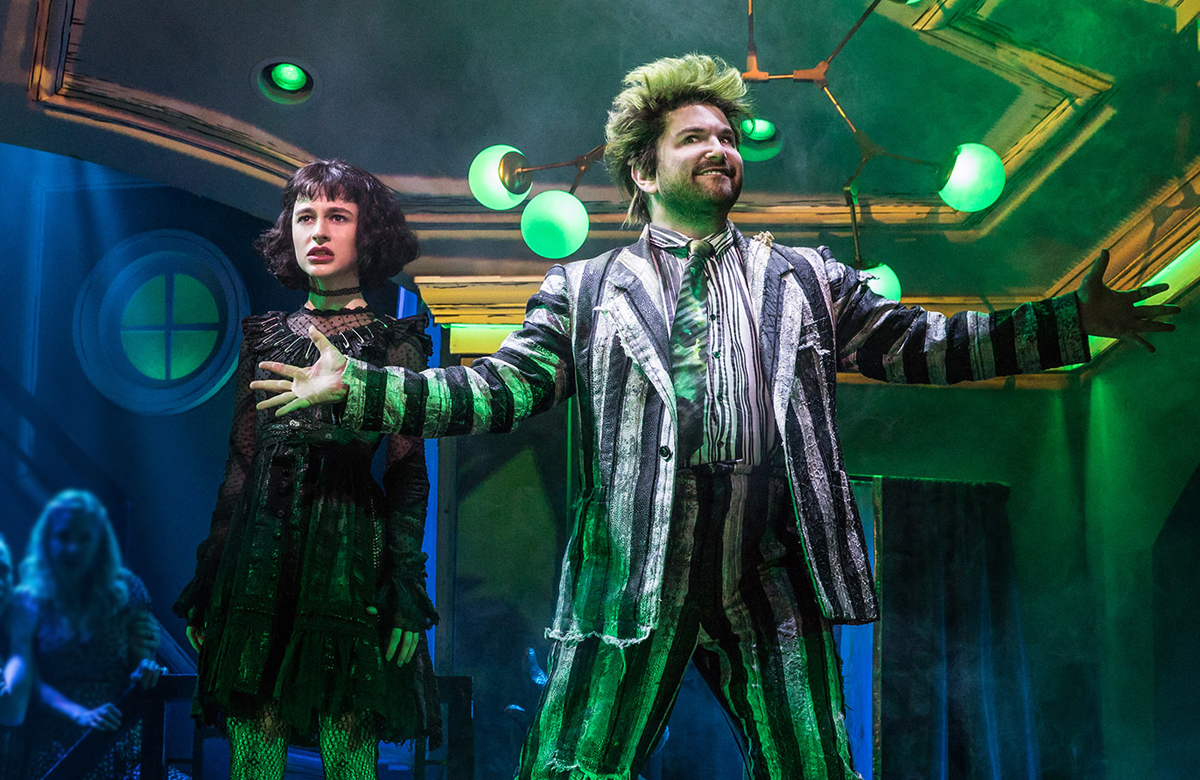 Sophia Ann Caruso and Alex Brightman in Beetlejuice at the Winter Garden Theatre in New York. Photo: Matthew Murphy