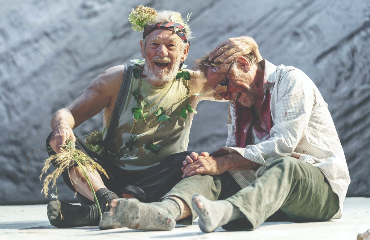 Ian McKellen as Lear and Danny Webb as Gloucester in Chichester Festival Theatre's King Lear. Photo