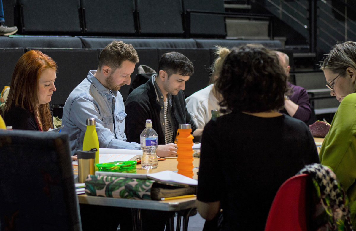 A cast read-through of the play. Photo: Lauren McLay