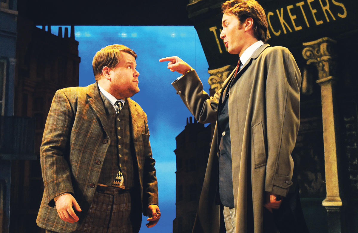 James Corden and Oliver Chris in One Man, Two Guvnors, which has amassed a huge online audience since it was made available. Photo: Tristram Kenton