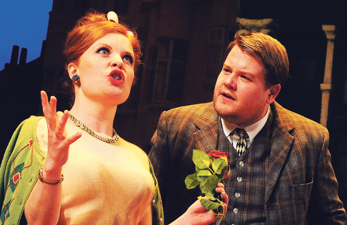 Suzie Toase and James Corden in One Man, Two Guvnors. Photo: Tristram Kenton
