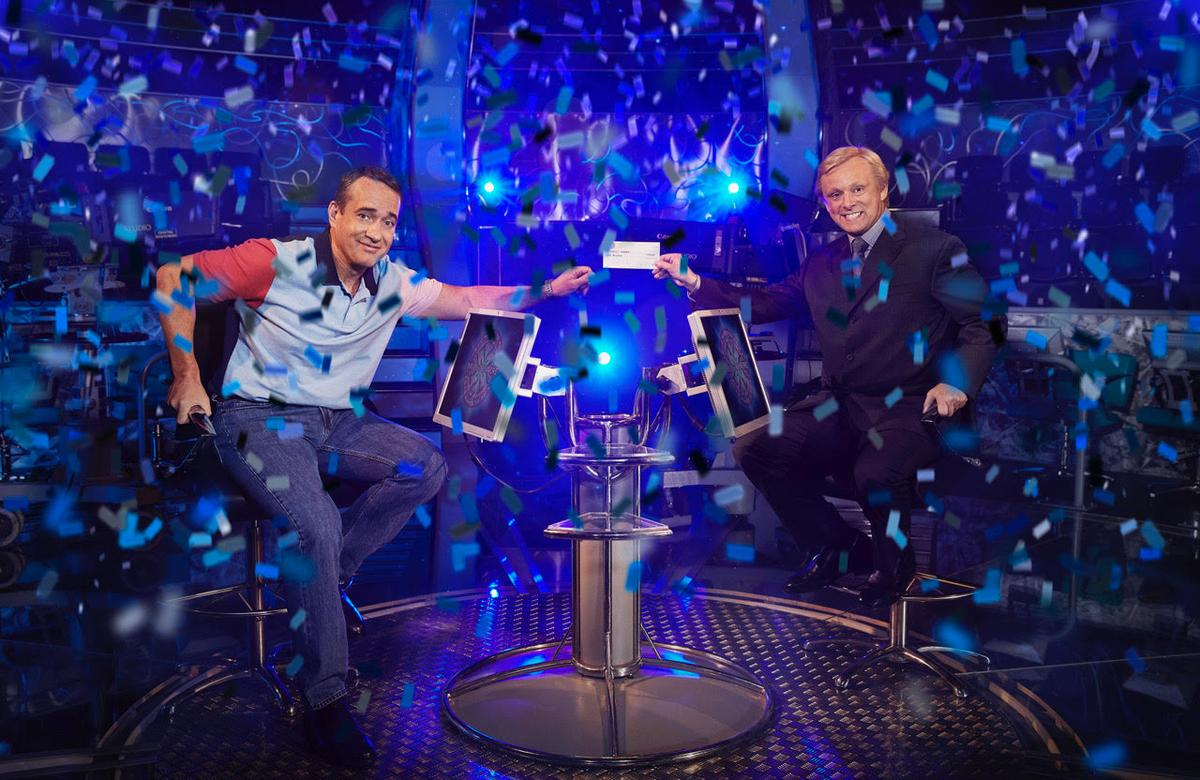 Matthew Macfadyen and Michael Sheen in ITV's Quiz. Photo: Leftbank Pictures for ITV