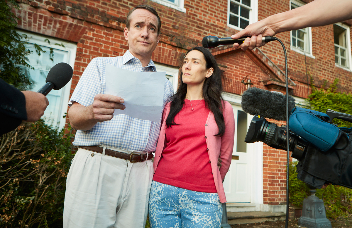 Matthew Macfadyen and Sian Clifford in ITV's Quiz. Photo: Leftbank Pictures for ITV