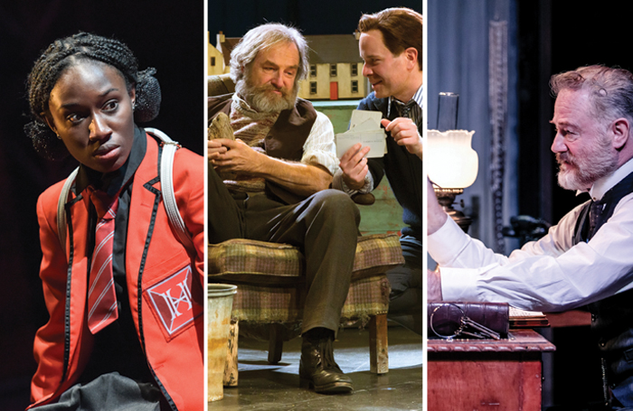 From left: Heather Agyepong in Noughts and Crosses, Julian Forsyth and Damian Humbley in Local Hero and Owen Teale in Rutherford and Son. Photos: Robert Day, Stephen Cummiskey, The Other Richard